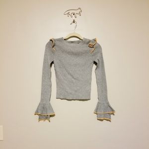 Urban Outfitters Flared Sleeves Sweater